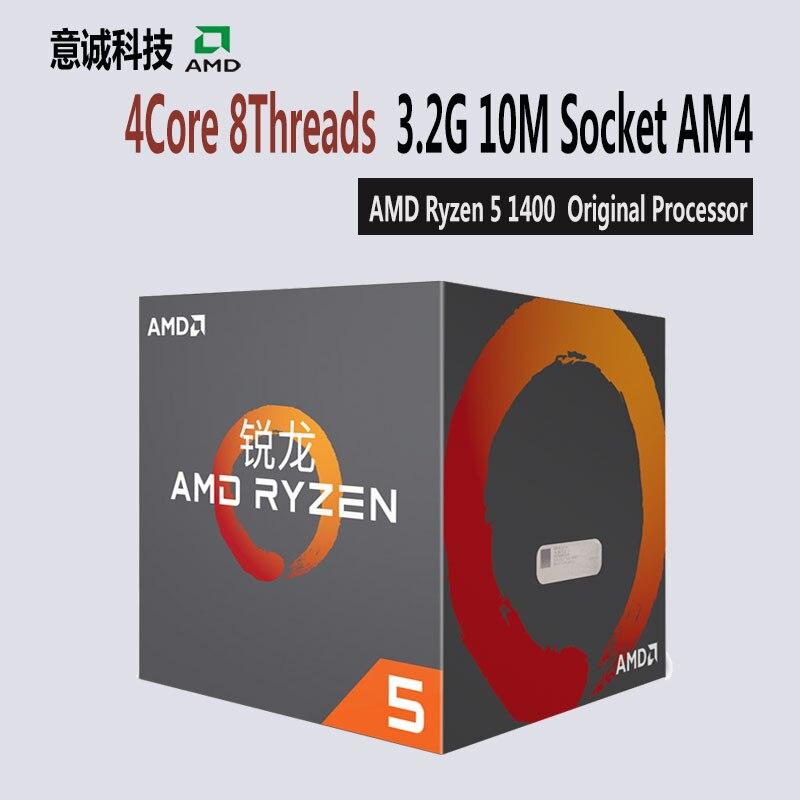 AMD Ryzen R5 1400 CPU Original Processor 4Core 8Threads Socket AM4 3 2GHz TDP 65W 10MB