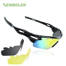 NEWBOLER Professional Myopia Polarized Fishing Glasses Men Women Climbing Eyewear Hiking Sunglasses Outdoor Sport Goggles 3 Lens