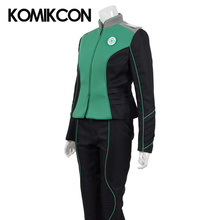 The Orville Medical Department Uniform Cosplay Claire Finn Costume Starfleet Duty Outfit Halloween Christmas Green Suits