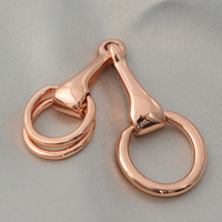 Real Gold Plating Multi Purpose High Grade Chain Scarves Buckle Bit Mouth Buckle Belt Buckle Three