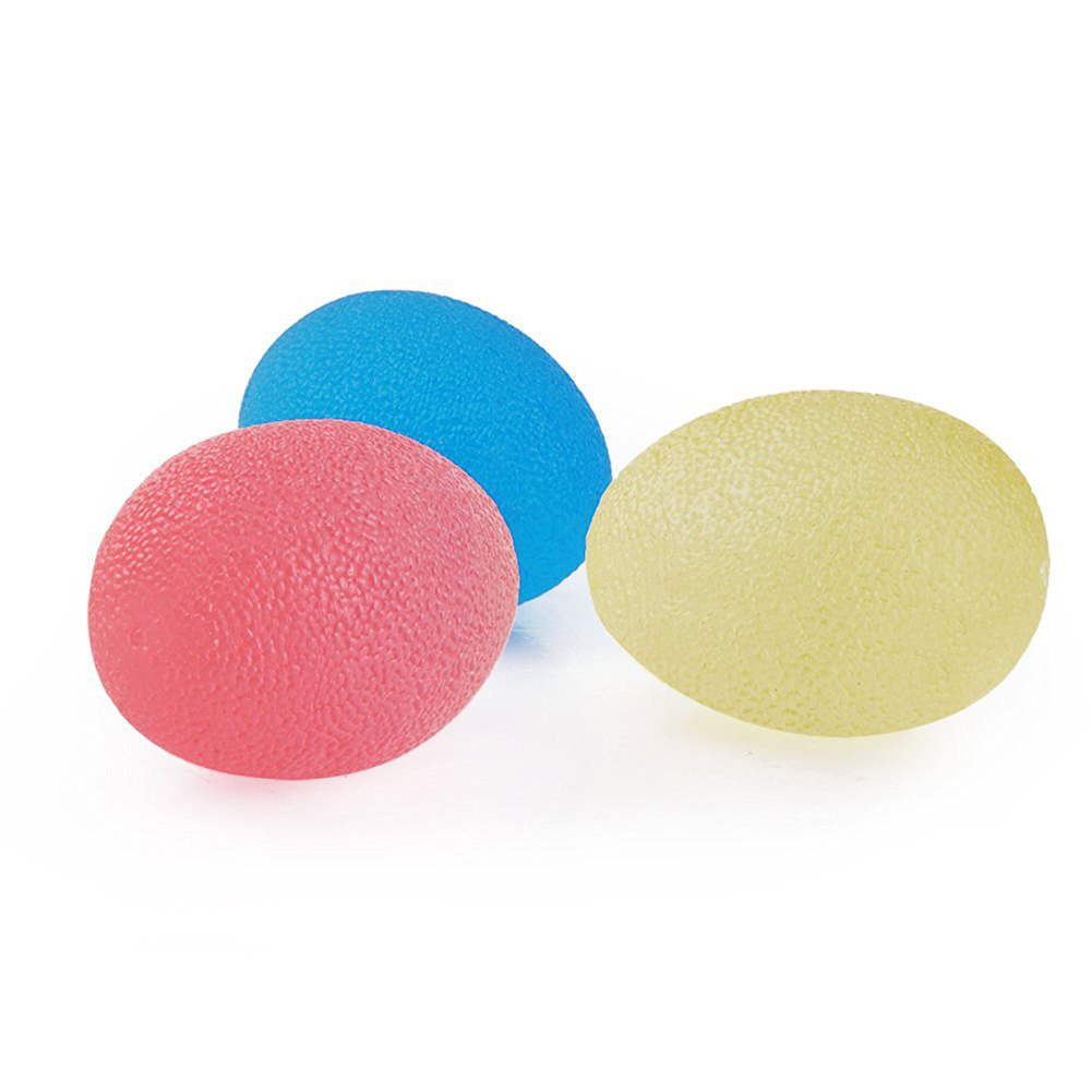 Egg-Shaped Silicone Grip Ball Hand Fitness Ball Finger Strengthener 3 Squeeze Resistances Soft Medium Hard For Hand Training