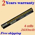 JIGU 2600 МАЧ 4 Клетки L12L4E01 L12S4E01 Аккумулятор Для Ноутбука Lenovo G400s G405s G500s G505s S410p L12M4E01 G510s S410p G410s 14.8 В