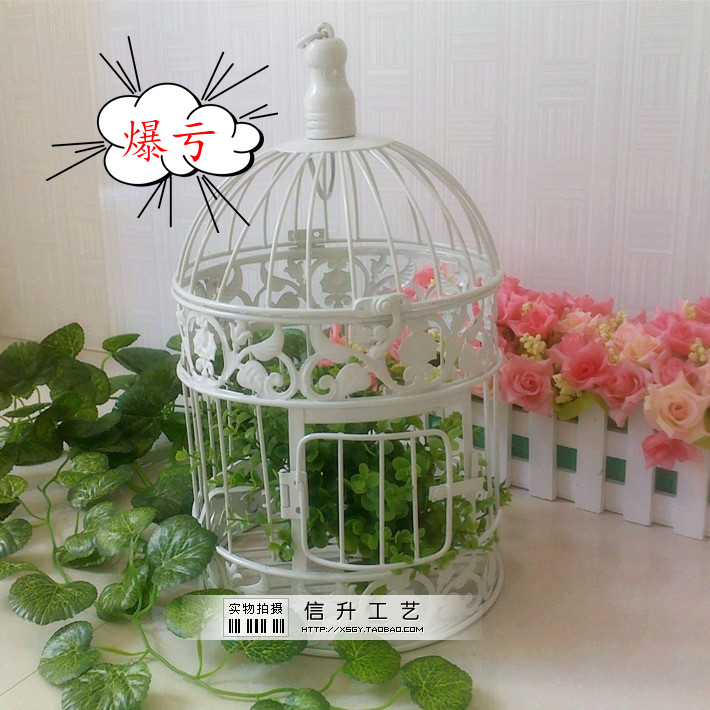 Popular decorative bird cages weddings buy cheap for Cage a oiseaux decorative