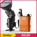 Godox Witstro AD-360 Powerful Flash Portable Speedlite With PB960 Orange Battery Power Pack Kit For Ourdoor Photograph