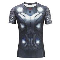 2016 Summer Avengers Thor short sleeved O neck t shirt men cosplay anime Marvel hero S.H.I.E.L.D. tight t shirts