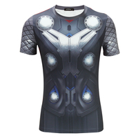 2016 Summer Avengers Thor Short Sleeved O Neck T Shirt Men Cosplay Anime Marvel Hero S