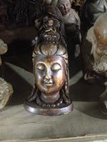 China ancient rock carvings of avalokitesvara head Buddha statues home decoration stone crafts
