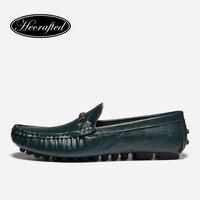 Size 35 48 Cow Split Leather Men Moccasins Fashion Hecrafted 2017 Comfortable Men Flats BG89167