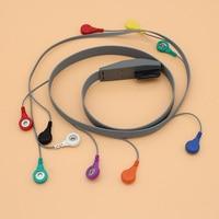 3pcs Holter ECG EKG 10 lead cable and snap electrode Compatible Mortara 9293 026 50(AHA) or 9293 017 50(IEC)