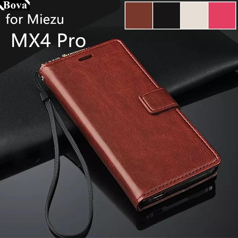 "Untuk fundas MEIZU MX4 PRO 5.5 ""-inch pemegang kartu kasus penutup untuk MEIZU MX4 PRO kulit telepon kasus ultra tipis dompet flip penutup"