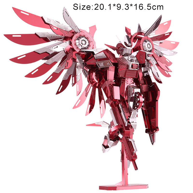 3D Metal Puzzles Model Hurricane Wings Adult Kids DIY Kits Jigsaw Educational Toys Collection Christmas Gifts For Teenagers