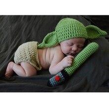 THINKTHENDO/вязаный крючком костюм для новорожденных мальчиков и девочек; комплект одежды с шапочкой для фотосессии