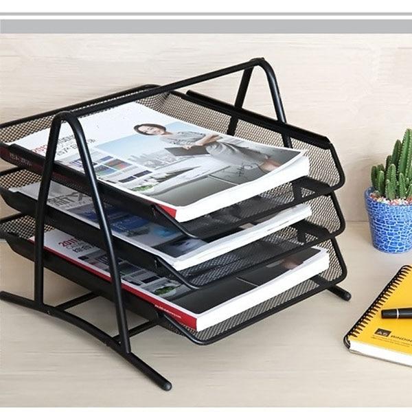 desk office file document paper. DIY Metal Mesh 3-Tier Document Tray Magazine Frame Paper Files Holder For Office Desk File AliExpress.com