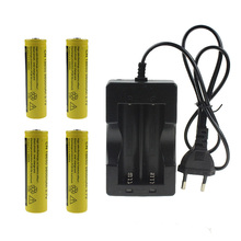 Cheap 4pcs 18650 9800mah Battery And 1pcs Charger For 4*18650 Rechargeable Lithium Battery +1pcs NK-809 Charger With 70CM