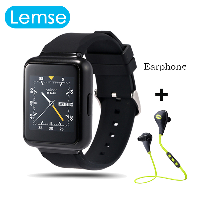 2016 Lemse Q1 Smart Watch MTK6580 Android 5 1 512MB 4GB 1 54 inch screen support
