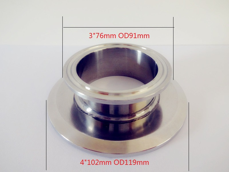 Free Shipping  Short Type Tri Clamp Reducer 3(76mm)OD91 x 4(102mm) OD119 , Sanitary Stainless Steel 304 ConnectorFree Shipping  Short Type Tri Clamp Reducer 3(76mm)OD91 x 4(102mm) OD119 , Sanitary Stainless Steel 304 Connector