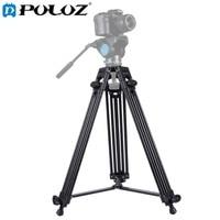 PULUZ Professional Heavy Duty Tripod Video Camera Camcorder Tripod Monopod Aluminum Alloy Tripod For Canon Sony