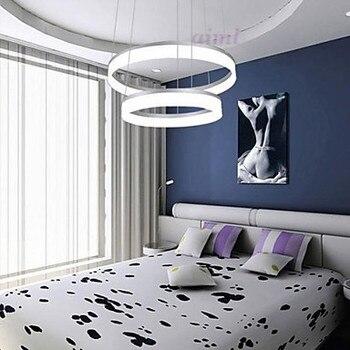 Светодиодный, бесступенчатый, с затемнением, модный современный дизайн, мини-подвесной светодиодный потолочный светильник с кольцом, 110-240 В...