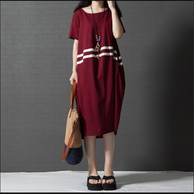 d45c2652f8f Maternity Clothes Summer Korean Style Large Plus Size Comfortable Striped  Dresses for Pregnant Women Pregnancy Vestido YFQ090