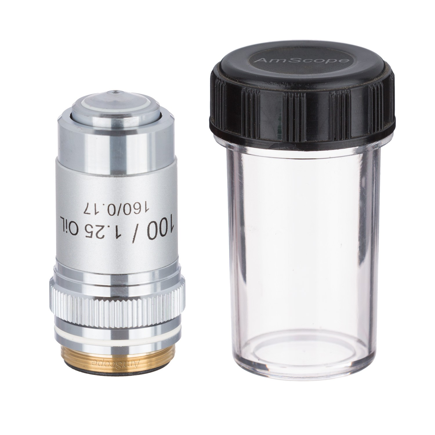 Free Shipping--AmScope 100X (Oil) Achromatic Microscope Objective A100X цена