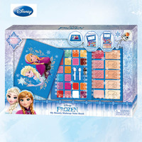 Disney pretend play Frozen professional fashion notebook makeup set girl gift toy water soluble Disney children's makeup
