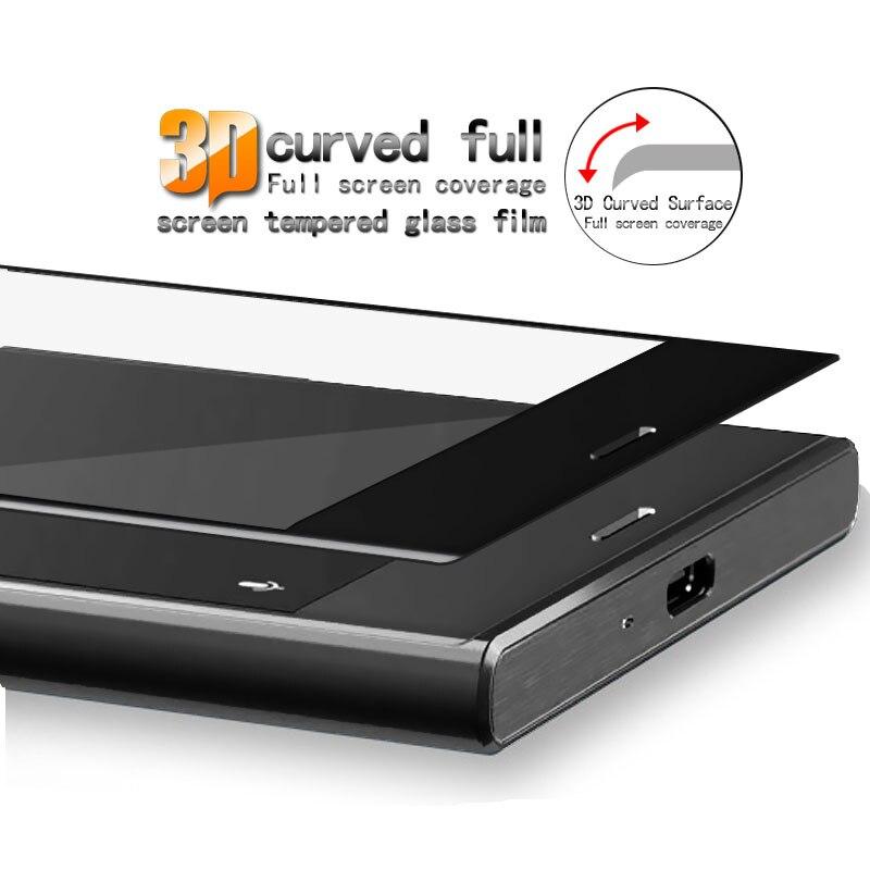 Pełnoekranowe szkło hartowane Do folii ochronnej Sony Xperia XZ - Części i akcesoria do telefonów komórkowych i smartfonów - Zdjęcie 3