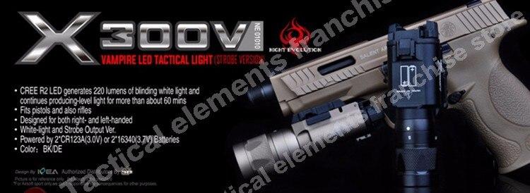 Elemento airsoft surefir x300v lanterna tática glock