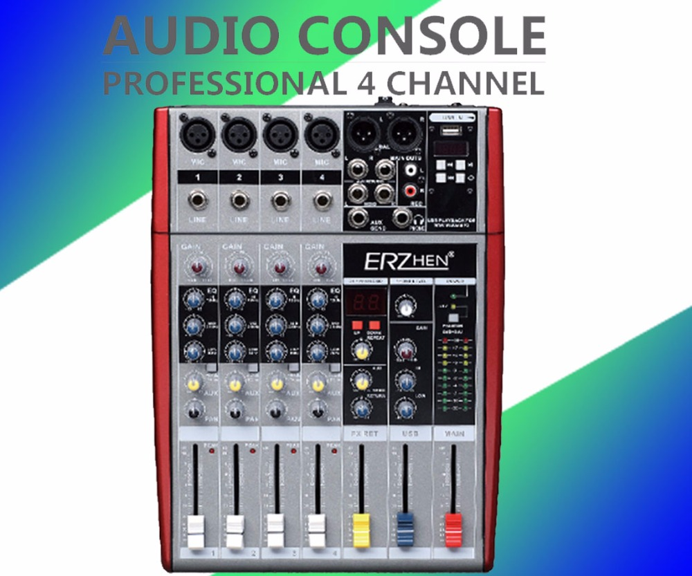 Audio Mixer Console W6000T6 Professional Mixer Audio Amplifier Sound Processor 6 Channel