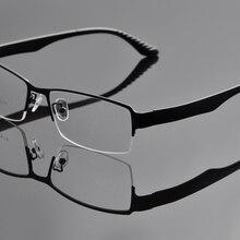 Металлическая оправа больших размеров, мужские очки с полуоправой, большие очки, оптическая оправа, очки больших размеров для широких мужчин DD0934