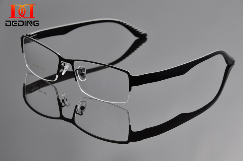 2015 Metal Bigger size Frame Mens Half Frame big head Optical Frame eyeglasses Oversized Eye Glasses For wide face Men DD0934 ...