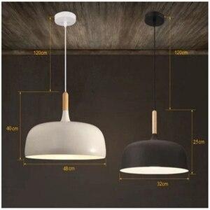 Image 4 - LukLoy lampe suspendue en bois, design moderne, luminaire dintérieur, luminaire dintérieur, idéal pour une cuisine, un salon, LED, lampe à LED