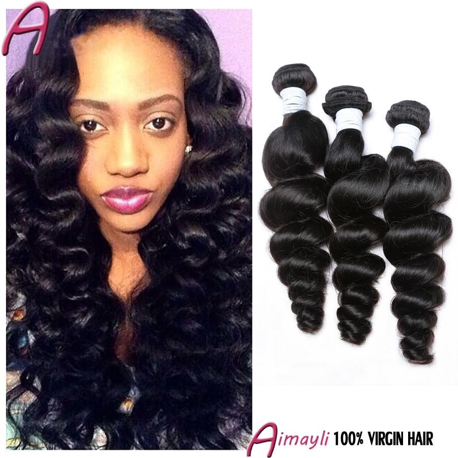 Brazilian Loose Curl Virgin Hair 3 Bundles 7a Unprocessed