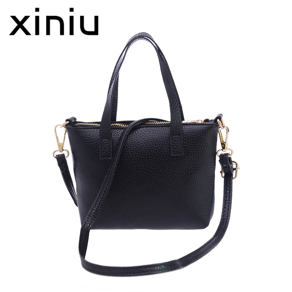 XINIU 2017 Women Leather Bag Messenger Bags Tote Handbags Woman Famous Brands High Quality Shoulder Bag Ladies bolsa feminina