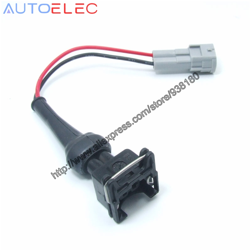 popular automobile wire harness buy cheap automobile wire harness 1pcs 2way ev1 to nippon denso adapter changing wiring harness wire kit complete 2jzgte 2jzge