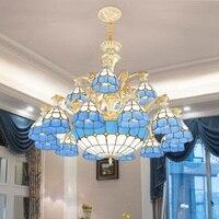 Modern Luxury Led Chandelier Lighting Remote Control Tiffany Style Lustre Ceiling Led Crystal Chandelier For Living Room Bedroom