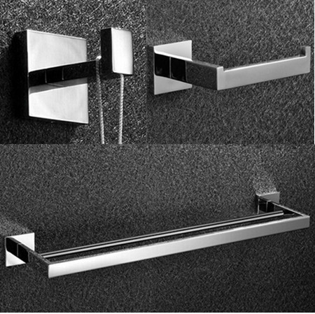 Free shipping,304# Stainless Steel Bathroom Accessories Set,paper towel holder,robe hook,double Towel Bar,bathroom hardware sets leyden towel bar towel ring robe hook toilet paper holder wall mounted bath hardware sets stainless steel bathroom accessories