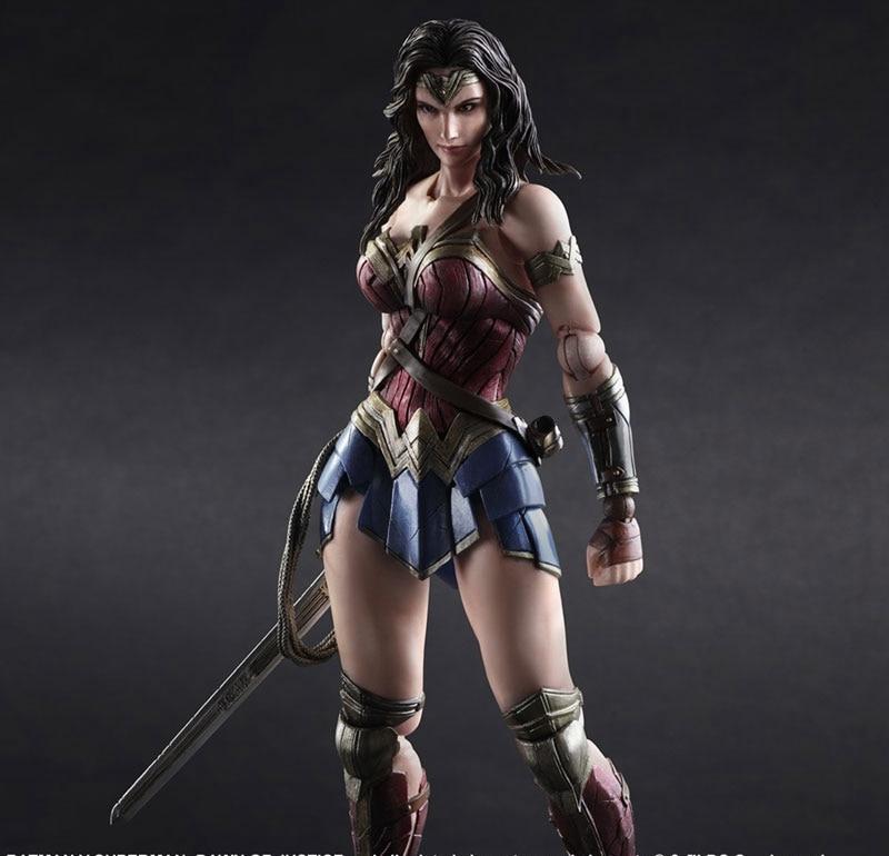 Wonder Woman Abbildung Batman Superman Play Arts Kai Wonder Woman variante PVC...