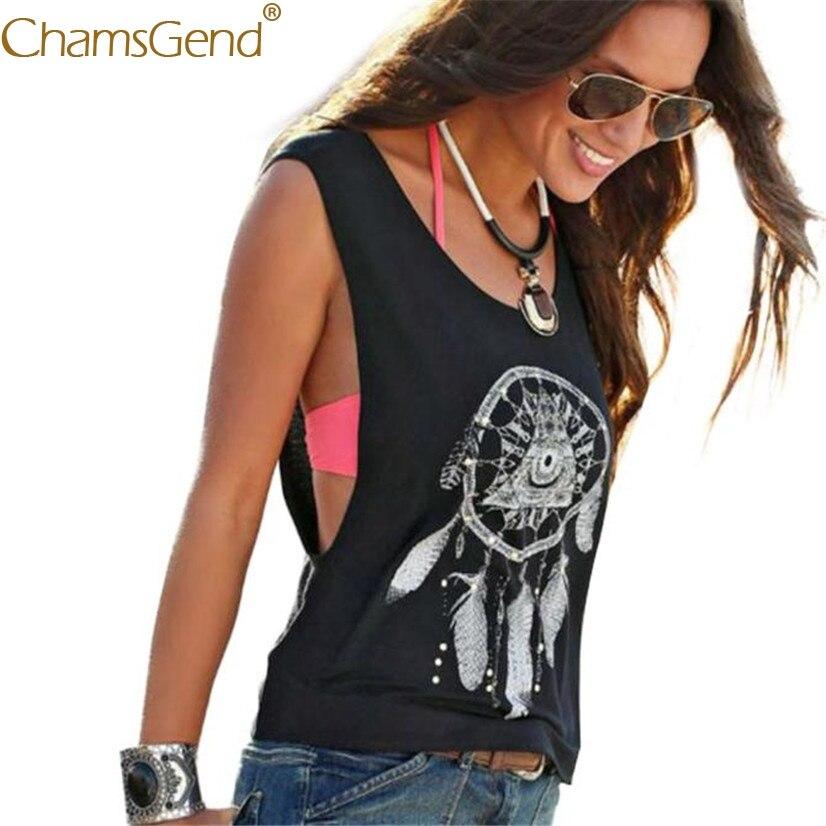 Free Shipping Womens Dreamcatcher Print Sleeveless Black   Tank     Top   Shirt 80521 Drop Shipping