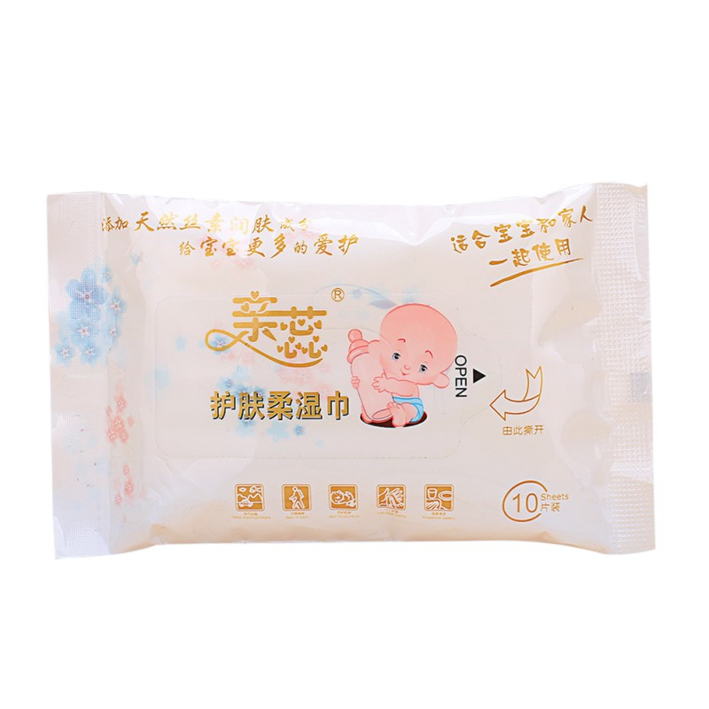10PCS Baby Wet Wipes For Hand Outdoor Portable Wipes Baby Care