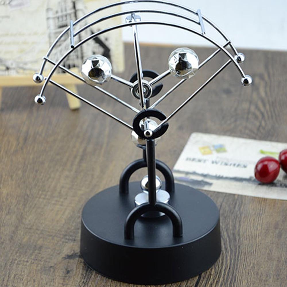 1 Piece Creative Rotation Metal Balance Ball Fun Gags Joke Toys Parachute Fan Perpetual Motion Instrument Gift Toys