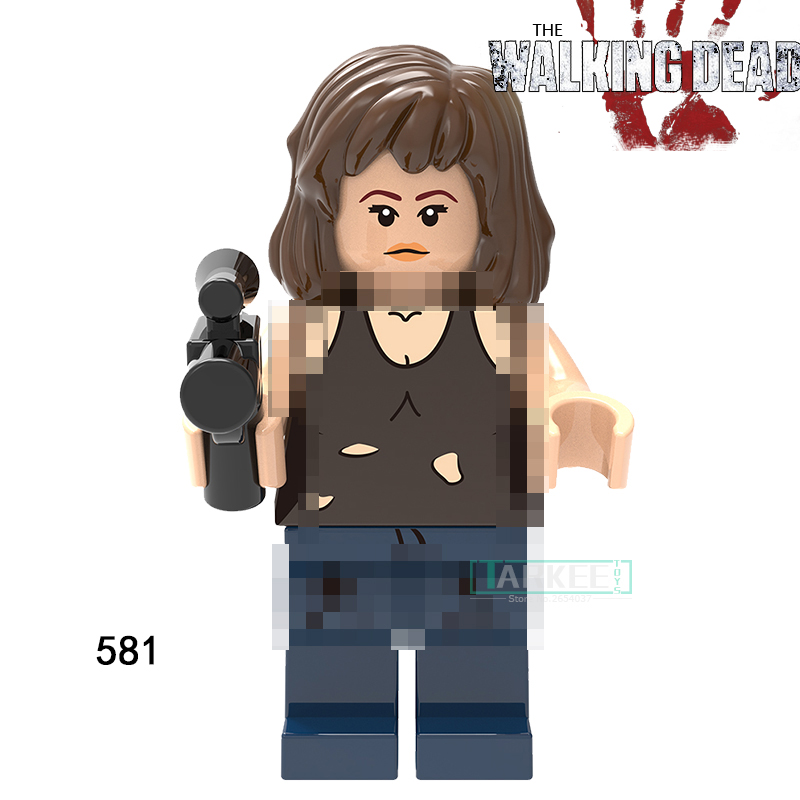 1pc The Walking Dead Figures Building Blocks Carl Daryl Rick Negan
