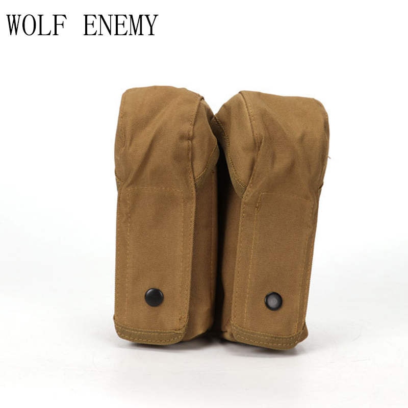 Tactical Airsoft Molle Double AK Magazine Tas OD TAN Woodland CP - Jacht