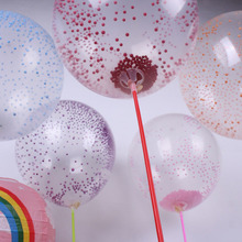 10p 12inch Brithday globos Party wedding decoration confetti Foam tablets balloon Helium Latex Transparent Clear Balloon(China (Mainland))