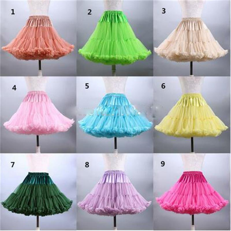 In Stock Real Pictures Cheap Multi Color Short Petticoat For Women Party Dresses Wedding Accessories Underskirt Crinoline jupon