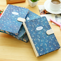 Korean Cute Stationery Lovely Magnetic Button Notebook Personal Diary Book 128 Pages Hardcover Personal Journal School