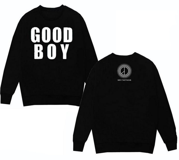 bigbang kpop Zhi-Long GD sun long-sleeved Hoodies terry Sweatshirts Good Boy songs k-pop ...