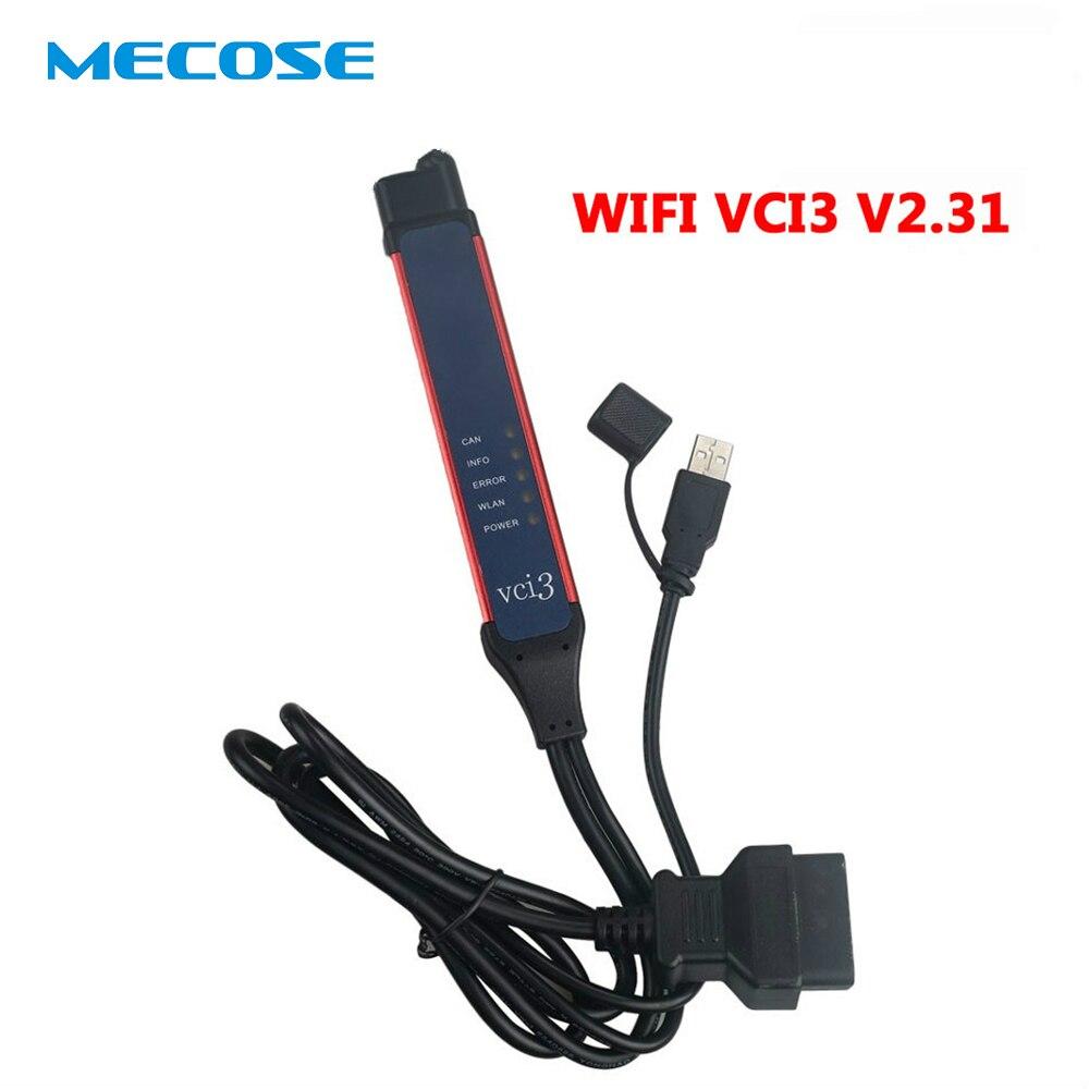 Новые V2.31 VCI 3 OBD2 разъем VCI3 Wi Fi Беспроводной профессиональный инструмент диагностики грузовик с SDP3 2,31 VCI 3