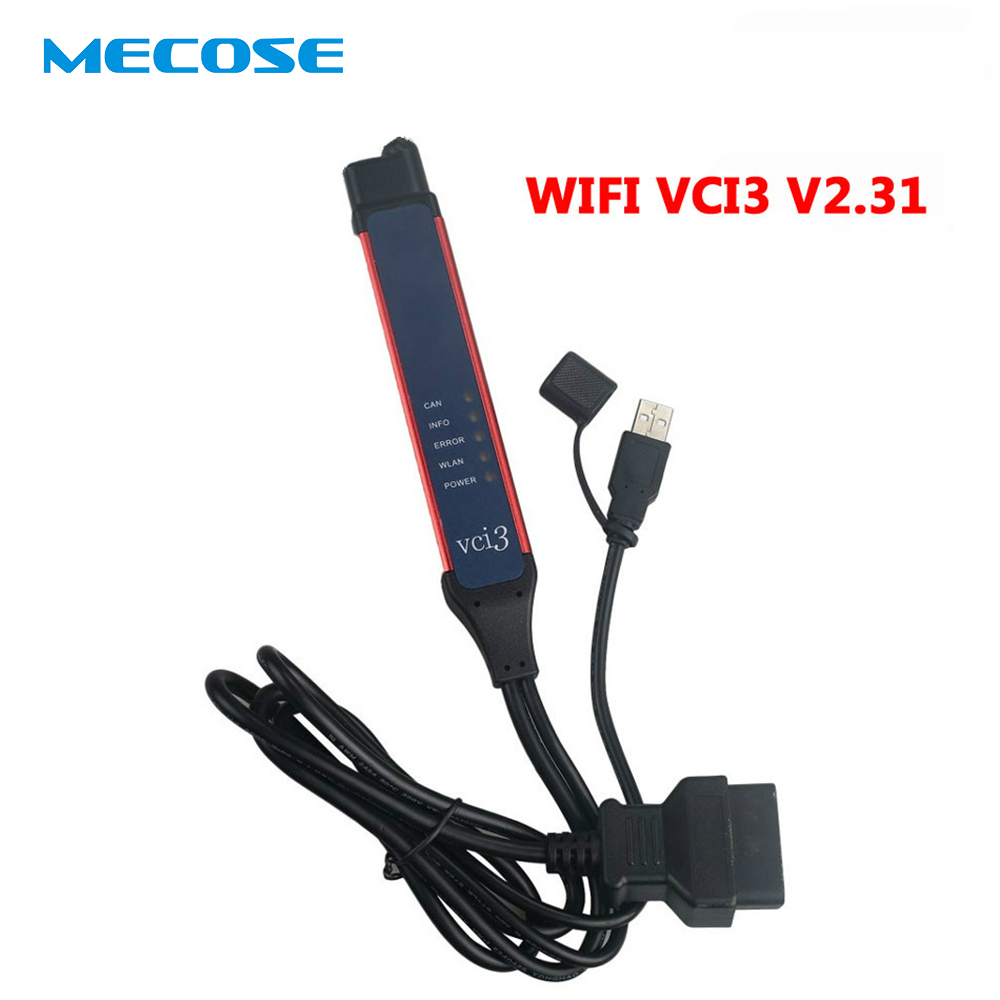Date V2.31 VCI-3 OBD2 Connecteur VCI3 Wifi Sans Fil Professionnel Camion Outil De Diagnostic avec SDP3 2.31 VCI 3