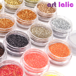 Image 2 - 30 Pcs 네일 반짝이 모듬 된 색상 네일 아트 파인 Glitters 파우더 먼지 UV 젤 폴란드어 아크릴 네일 팁 메이크업 도구