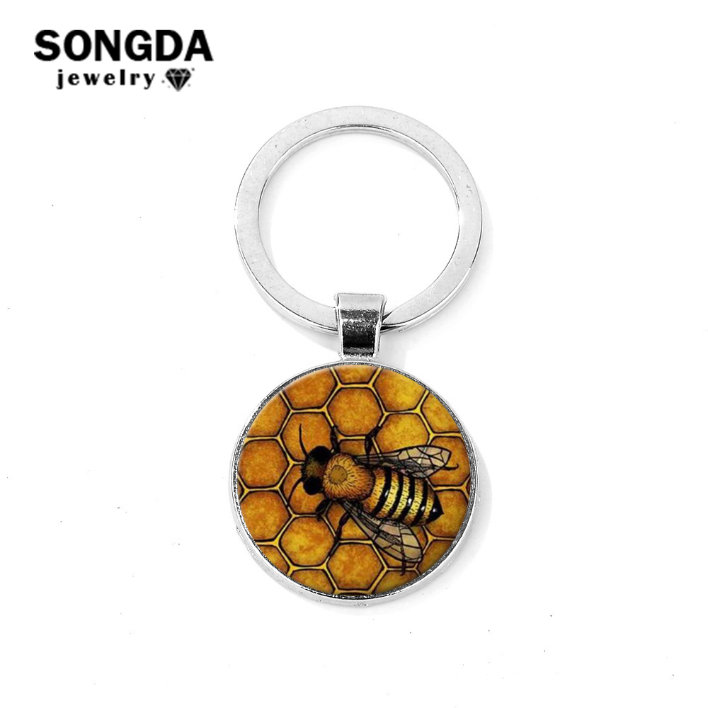 HONEYCOMB HONEY BEE QUEEN INSECT NATURE CHARM PENDANT NECKLACE
